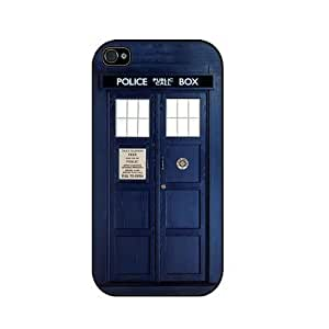 Tardis Doctor Who Iphone 4/4s Case, Iphone Cover, Iphone Hard Case - All Carriers - Black hjbrhga1544