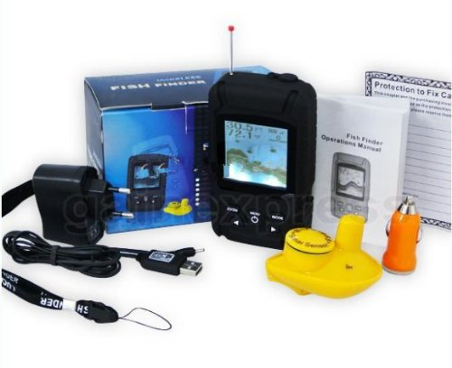- Gowe Rechargeable Battery Waterpoof Wireless Fishfinder Fish finder 0.6-40M ( 2-131ft ) Sensor 125kHz Sonar Frequency