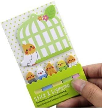 Leayao Cute Notes, Multifunktions-Aufkleber, tragbare Mini-Noten, Kawaii Memo Plan Sticker Einheitsgröße Lazy cat
