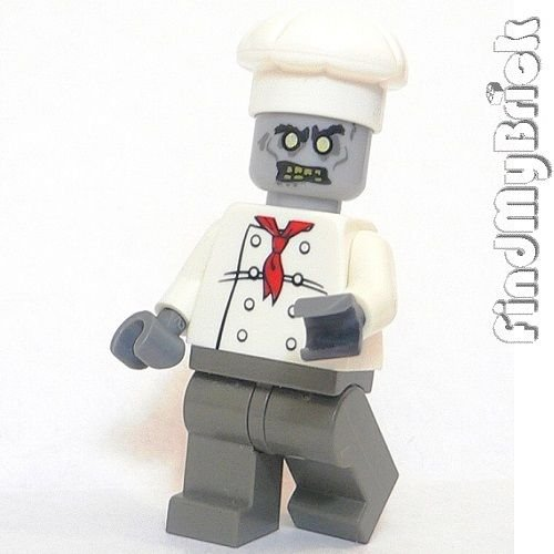 Lego Zombie Chef Cook Custom Minifigure Undead Halloween Ghost Death New (Zombie Chef compare prices)