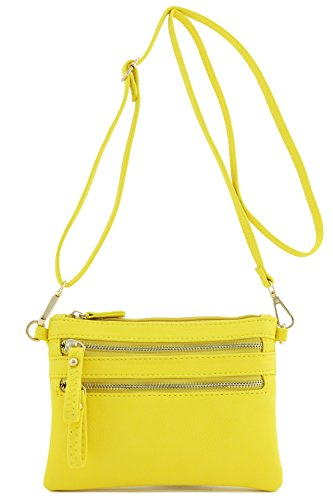 Multi Bag Small Zipper Wristlet Pocket Yellow Crossbody BWW4q0rRan