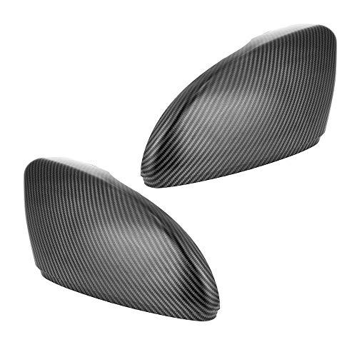 (2pcs for VW Scirocco MK3 CC Passat B7 Jetta Side Mirror Covers Caps Car Auto Carbon Fiber Side Rearview Mirror Cap Cover Trim Scirocco MK3 2009 Up)