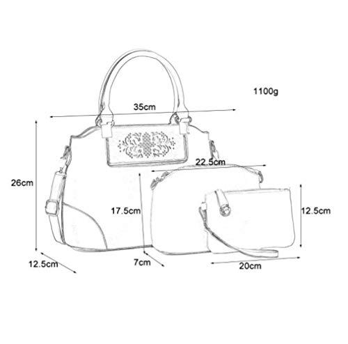 Set donna pacchetto nero Il Shoulder dichiara Hollow nuovo Zaino Fashion Messenger Solid Shoulder Simple awqCAw