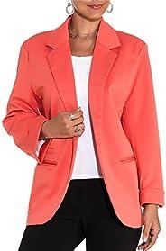 Imbry Women Boyfriend Blazers 3/4 Sleeve Cool Suit Fashion Casual Coat Jacket