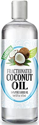 Healing Solutions Fractionated Coconut Oil for Aromatherapy, Essential Oil and Massage, 16oz