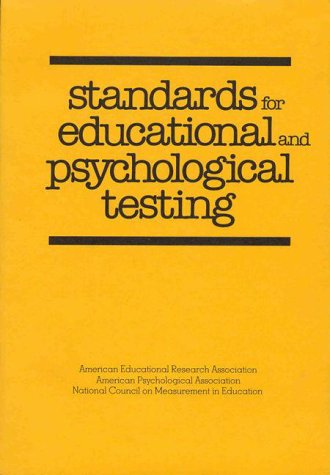Download Standards for Educational and Psychological Testing book