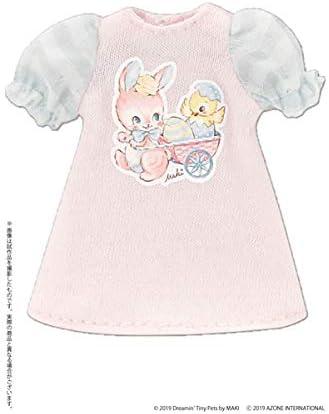 ピコニーモ用 1/12 イースターTシャツワンピース ~by MAKI~ ピンク×ミントグリーン (ドール用)