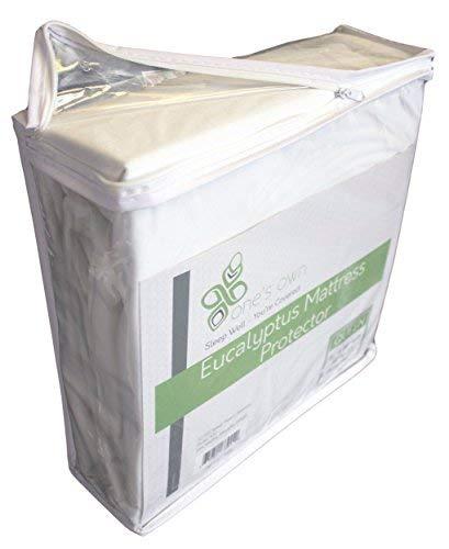 One's Own Mattress Protector, Renewable Organic Tencel/Eucalyptus Fiber Top, TPU Waterproofing, Hypoallergenic, Five-Sided, White, King