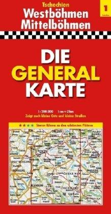 Die Generalkarte Tschechien 1, Westböhmen/Mittelböhmen 1:200 000