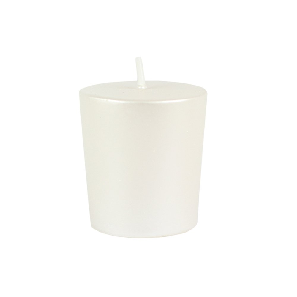 Zest Candle CVM-003_8 96-Piece Votive Candle, Pearl White