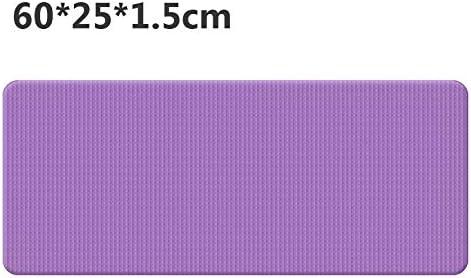 Eco friendly 初級ビジネス環境体操マット用60cmx25cmx1.5cmのNBRヨガマット滑り止めカーペットピラティスジムスポーツエクササイズパッド exercise (色 : Purple)