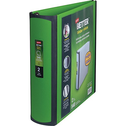 Staples Better Binder, 2-Inch, Green (Staples Business Cards)