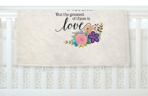 KESS InHouse Noonday Design ''Faith, Hope, And Love'' Beige Multicolor Fleece Baby Blanket, 40'' x 30'' by Kess InHouse