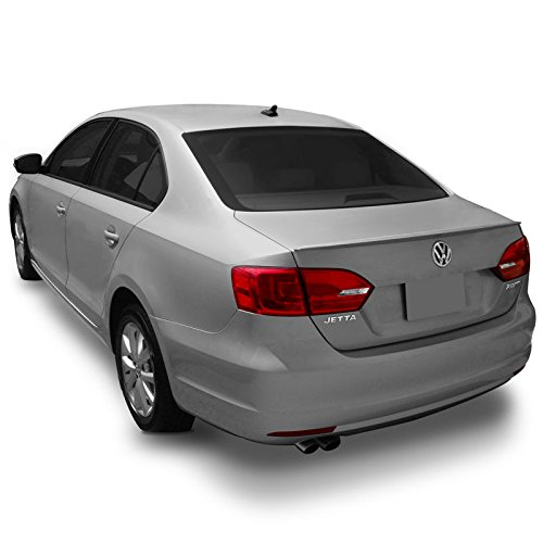 Dawn Enterprises JET11 Factory Style Flush Mount Spoiler Compatible with Volkswagen Jetta - Candy White B4B4 (LB9A)