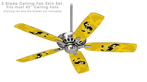 Iowa Hawkeyes Herky on Gold - Ceiling Fan Skin Kit fits most