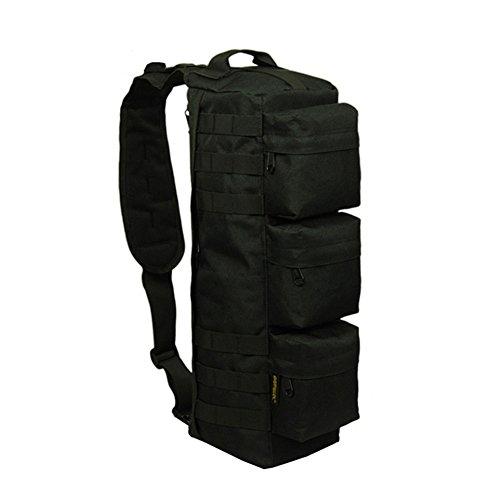 Generic hombre exterior militar tactival Mochila Lienzo Packsack 20L, negro negro