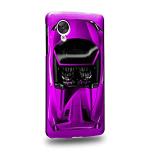 Case88 Premium Designs Art Collections Hand Drawing Sport Car Purple Carcasa/Funda dura para el LG Nexus 5