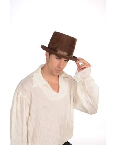 [Deluxe Brown Top Hat] (Willy Wonka Costume Accessories)