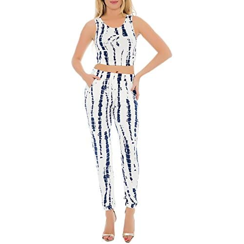 Discount Enimay Womens Two Piece Jumpsuit Crop Top Regular Fit Strapless Close Back free shipping