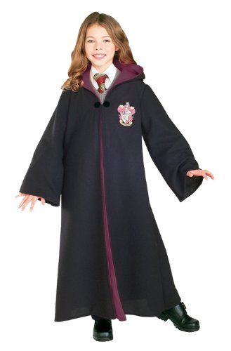 Rubie's Deluxe Harry Potter Child's Costume Robe with Gryffindor Emblem, Small Black, Burgundy ()