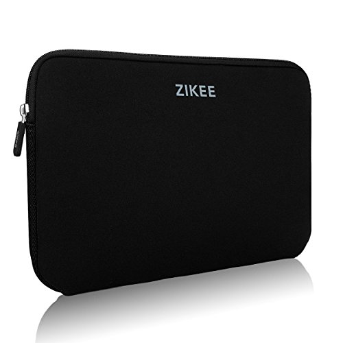 Zikee Laptop hülle 15 6 zoll 39,6cm bunt laptoptasche notebooktasche 15 15 4 sleeve Neopren wasserfest Laptop Ultrabook Case Bag/Notebook Computer Case/Aktentasche Carrying Bag/Pouch Skin Cover/netbook tasche/tablet case/notebook hülle/laptophülle/Hülle Ultrabook/Ultrabook Hülle Ledertasche Sleeve/Hülle Sleeve Tasche für HP notebook/HP i7 gaming/Asus F554LA/Lenovo Ideapad/Acer Aspire ES 15/Acer Aspire V 15/Asus F555UB/Dell/Samsung/Sony/Toshiba Satellite/TrekStor/Microsoft/Medion (Schwarz,15,6)