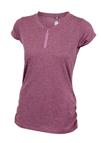 Ride Jersey Shorts - Club Ride Apparel Deer Abby Jersey - Women's Short Sleeve Pullover Cycling Jersey (Medium, Merlot)