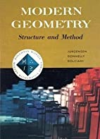 Modern Geometry: Structure and Method by Ray…
