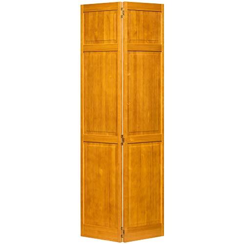 Kimberly Bay Traditional Six Panel Golden Oak Solid Core Wood Bi-fold Door (80x36) (Wood Bifold Doors)