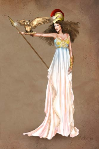 Athena: Greek Goddess Vintage Style Fashion Illustration Soft Cover Journal, Diary, Notebook with Lined Pages