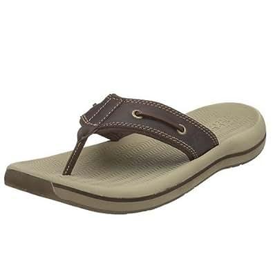 Sperry Top-Sider Men's Sport Santa Cruz Thong Sandal Sandal,Chocolate,7 M