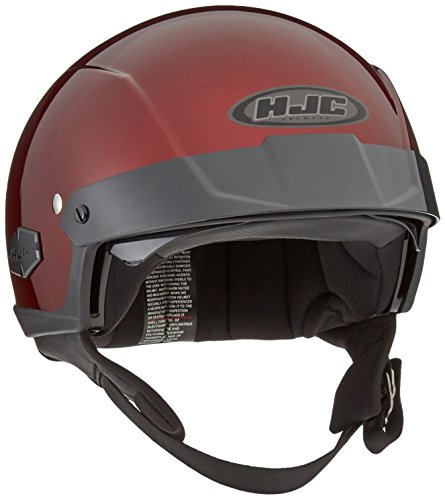 HJC IS-Cruiser Half-Shell Motorcycle Riding Helmet (Wine, Small)