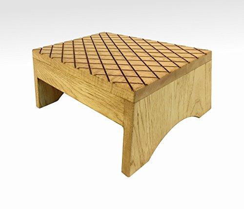 Wood Step Stool, FootStool by CW Furniture Golden Oak, Wooden, Bed, Custom, Grandma Gift, Grandparents Gift, Grandpa Gift, Handmade