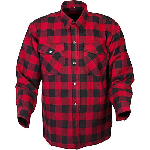 Scorpion Covert Flannel Shirt (Large) (RED/Black)