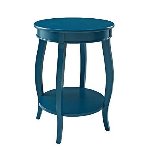 Hardwood Round Shelf - Powell's Furniture 287-350 Powell Teal Round Shelf Table,