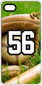 Baseball Sports Fan Player Number 56 Clear Plastic Decorative iPhone 4/4s Case