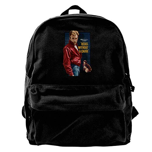 (WUHONZS Canvas Backpack James Dean in Rebel Without A Case Rucksack Gym Hiking Laptop Shoulder Bag Daypack for Men Women)