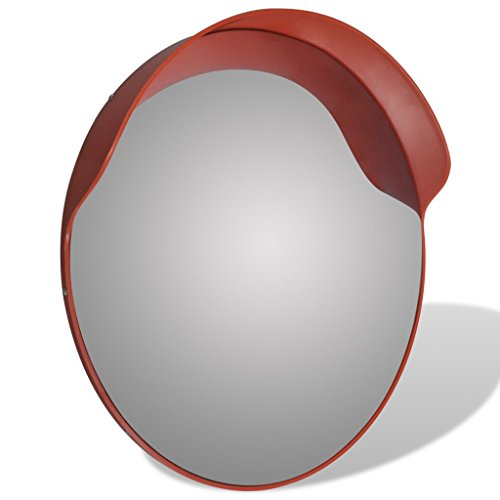 Anself Convex Security Mirror PC Plastic Orange 24'' Outdoor by Anself (Image #1)