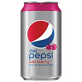 Diet Pepsi Wild Cherry, 12 Fl Oz Cans (Pack of 18, Total of 216 Fl Oz)