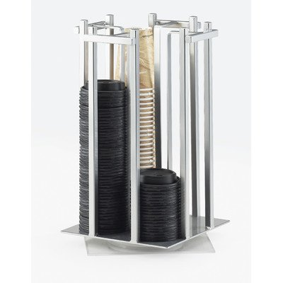 """UPC 688640163752, Cal-Mil 1133-74 One by One Revolving Cup/Lid Organizer, 15.75"""" Height, 10"""" Width, 10"""" Length, Silver"""