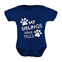 TeeStars - My Siblings Have Tails Funny One-piece Infant Baby Bodysuit 12M Na...