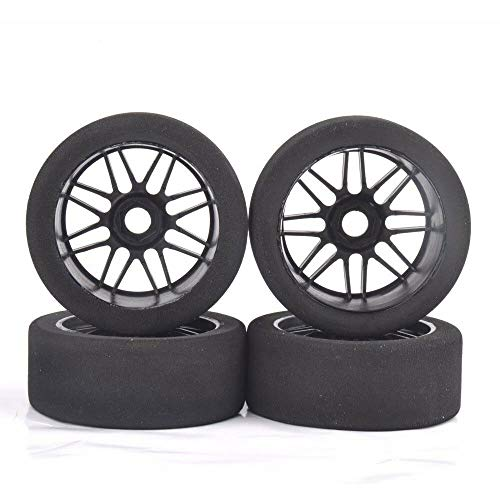 ZHIKE 4Pcs 17mm Hex 1:8 Foam Tire&Nylon Wheel Rims for HSP HPI GT XO-1 RC Racing Cars