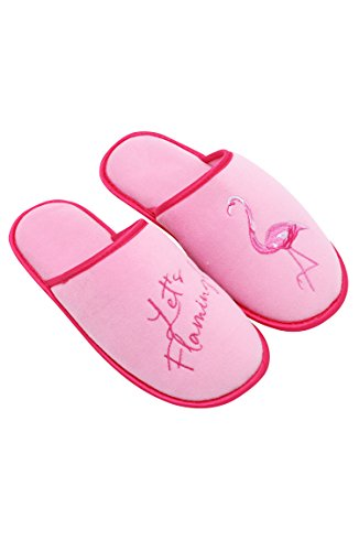 Macbeth Icons Slippers by Velvet Pink Josephs Women's Margaret House Flamingo W Bedroom Embroidered amp; Collection 6r5fwvq6