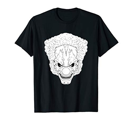 Scary Clown Drawing (Horror Clown Scary Halloween Evil Party Creepy Smile Gift)