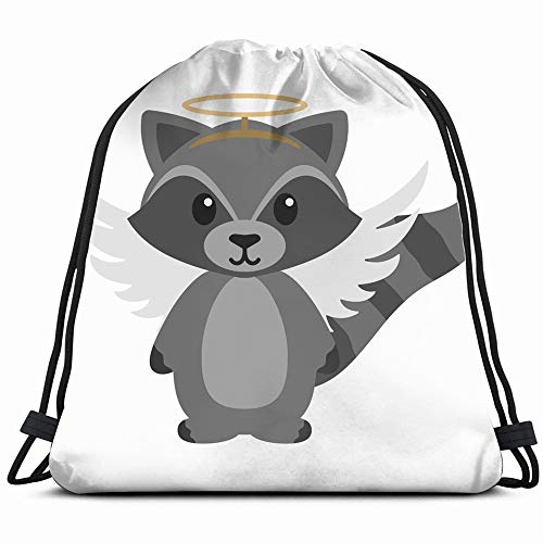 Raccoon Angel Costume Wearing Halo Holidays Adorable Objects