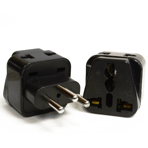 OREI 2 in 1 USA to Switzerland Travel Adapter Plug  - 2 Pack