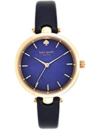 Women's 'Holland' Quartz Stainless Steel and Leather Watch, Color:Blue (Model: KSW1157)