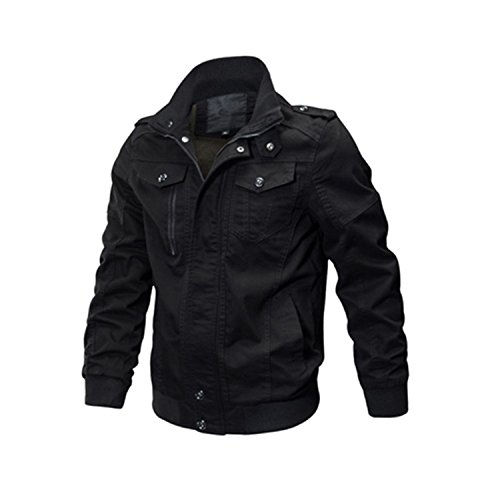 Marck Sch Fashion Jacket Men Winter Military Army Pilot Jacket Tactical Man Jacket Coat Plus Size 6XL SSFC-14 Black M by Marck Sch wool-outerwear-coats