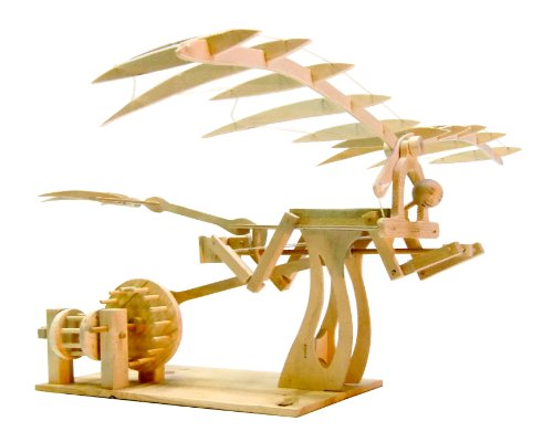 Pathfinders Leonardo Davinci Ornithopter Wood Kit Da Vinci Flying Machine