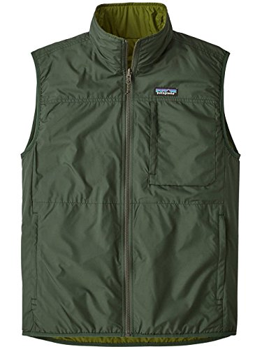 Patagonia Men's Reversible Crankset Vest Smoked Green (Medium, Smoked Green)