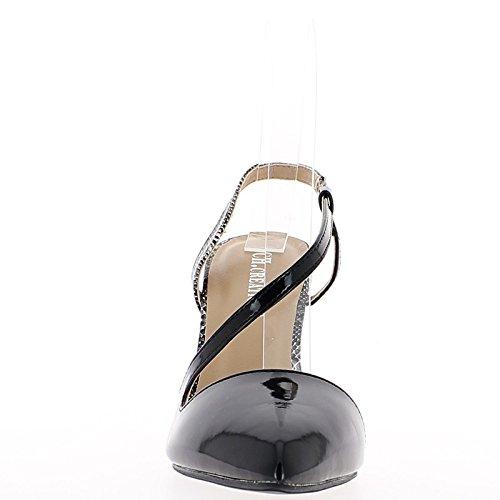 Fushias sandalias de cuña del talón compensado 14,5 cm y meseta